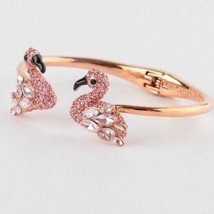 Kate Spade ♠️ Pink Pave Crystal Flamingo Bracelet